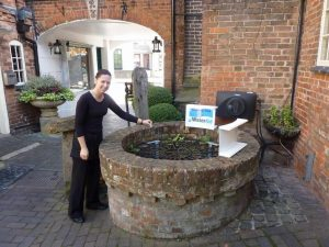 WaterAid Wishing Well at The Greyhound Coaching Inn Lutterworth