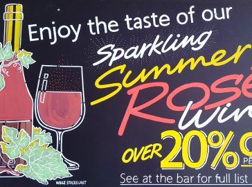 20pc off selected sparkling rose wines at The Greyhound